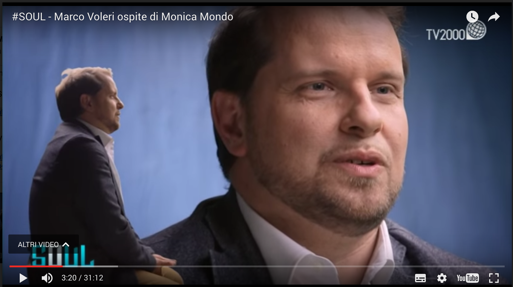 Marco Voleri a Soul: l'intervista con Monica Mondo a TV2000