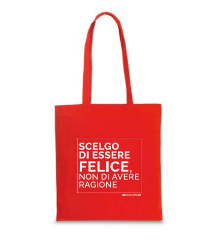 I Regali La borsa shopper rossa Sintomi di Felicità