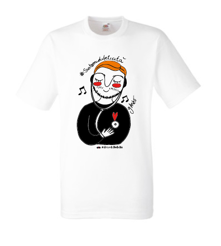 I Regali La maglietta T-shirt bianca Sintomi di Felicità di Giusy Anzovino